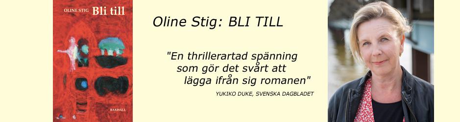 Oline Stigs nya roman Bli till